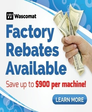 Wascomat Coin Laundry Spring Sale