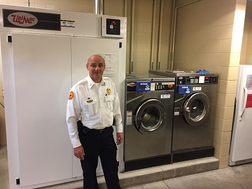 Fire Gear Washer ~ Cleaning firefighter turnout gear with a washer extractor